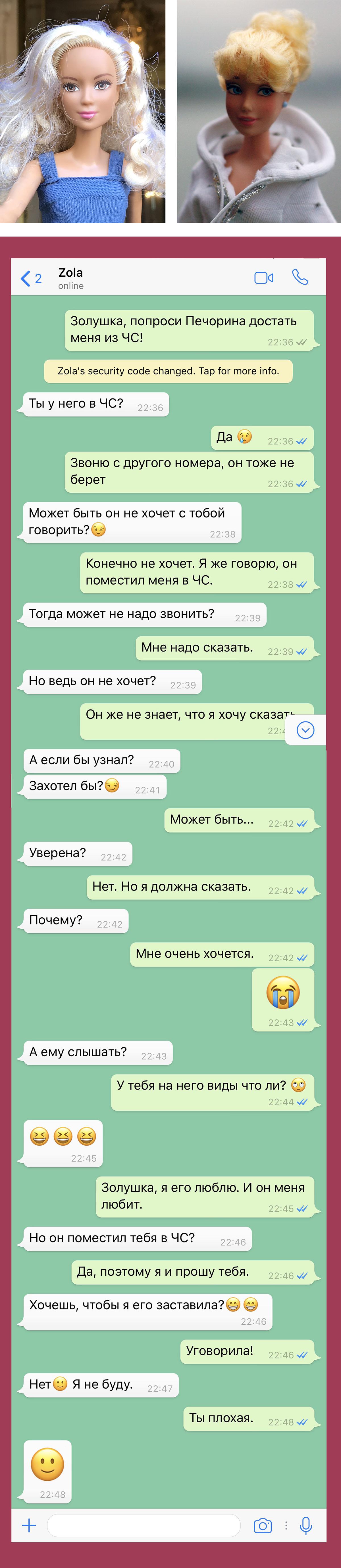 WhatsApp Белладонна – Золушка